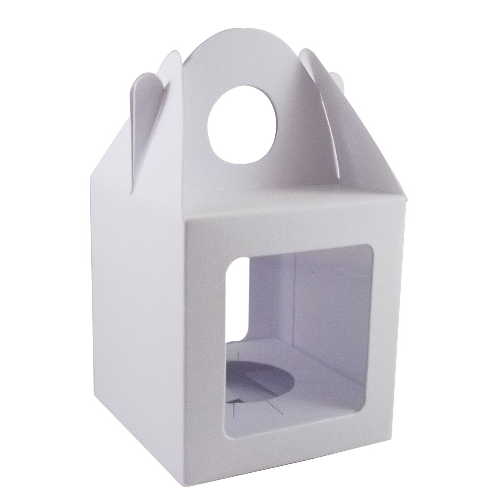 10 X White Single Cupcake Muffin Fairy Cake Boxes With 2