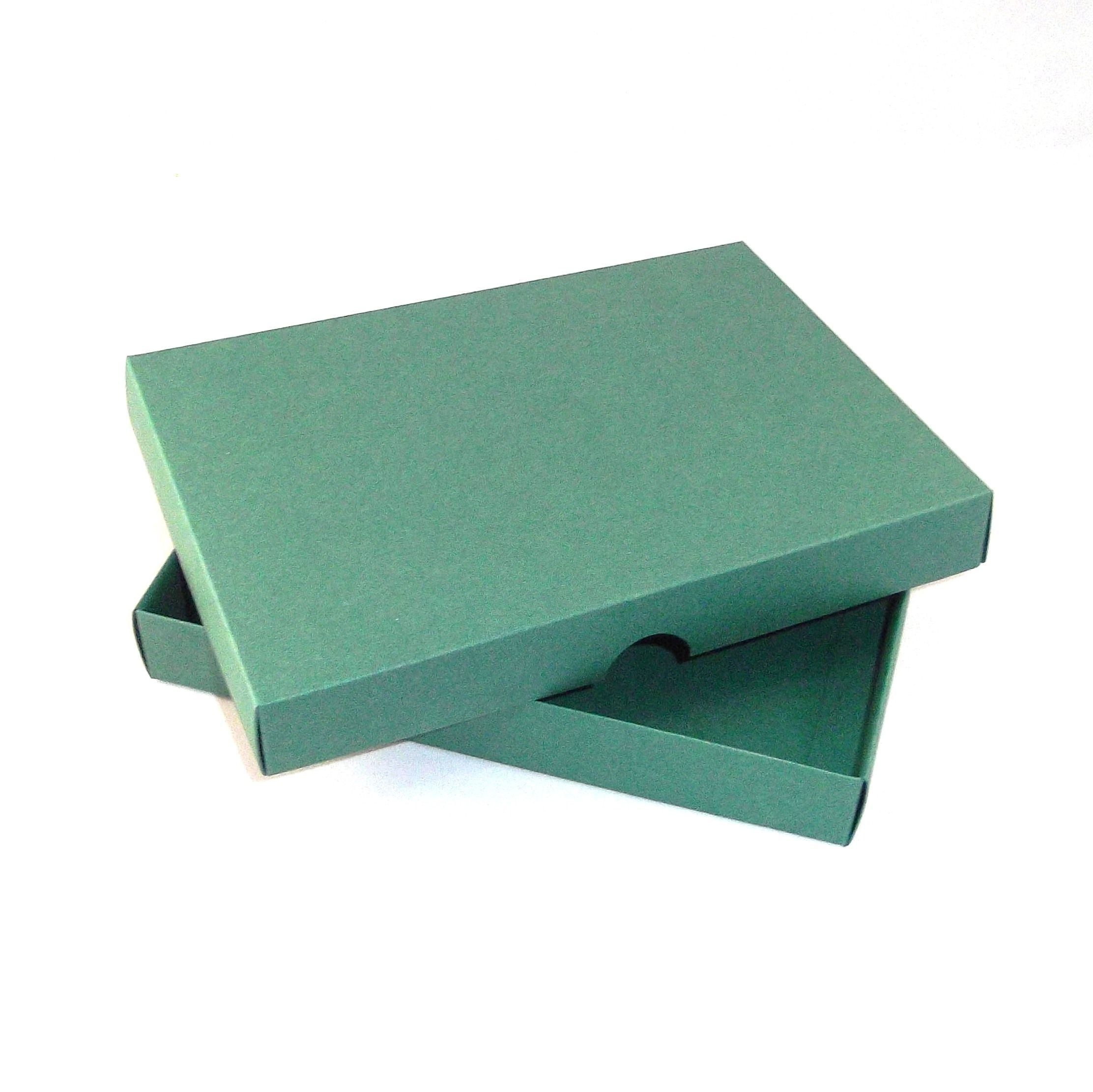 Birthday Cards Box ~ Green greeting card boxes for handmade cards