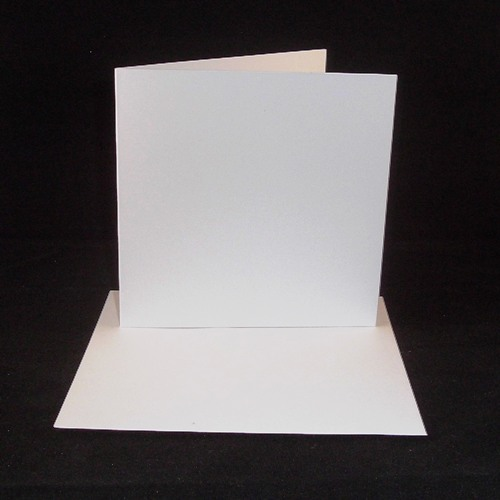 8 x 8 white greeting card blanks with envelopes
