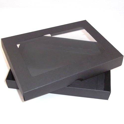 A4 black greeting card boxes with aperture lid m4hsunfo