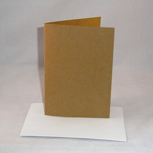 A5 brown kraft greeting card blanks with envelopes m4hsunfo