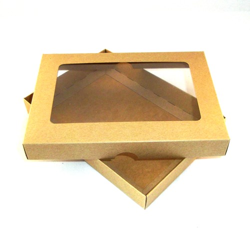 A5 brown kraft greeting card boxes with aperture lid m4hsunfo