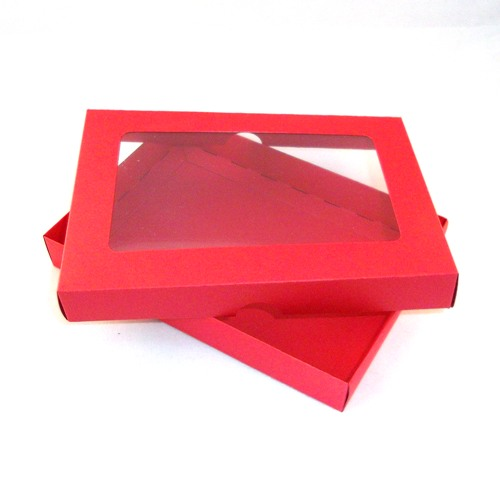 A5 red greeting card boxes with aperture lid m4hsunfo