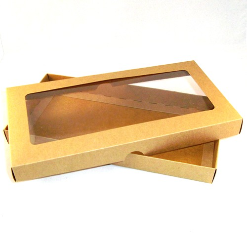 Dl brown kraft greeting card boxes with aperture lid m4hsunfo