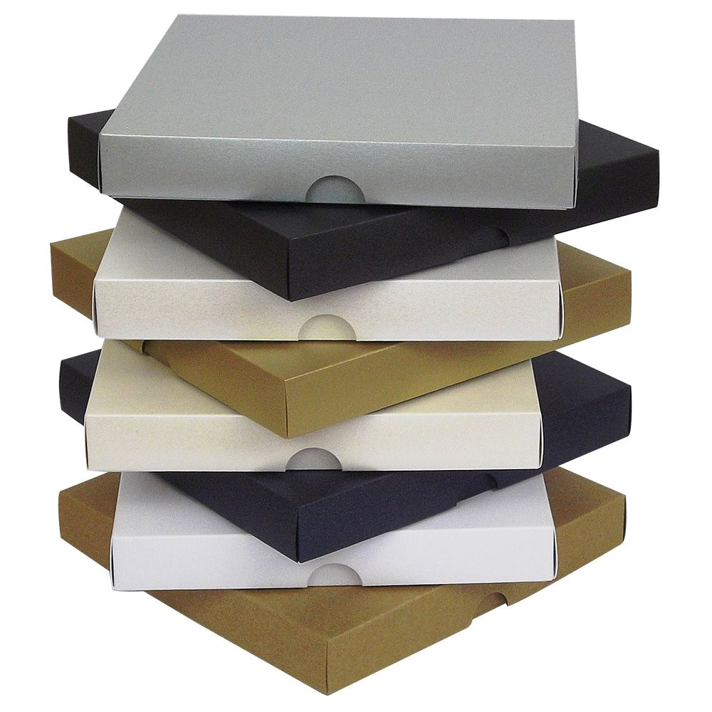 6x6 Inch Pearlescent Greeting Card Boxes Invite Wedding Gift Box