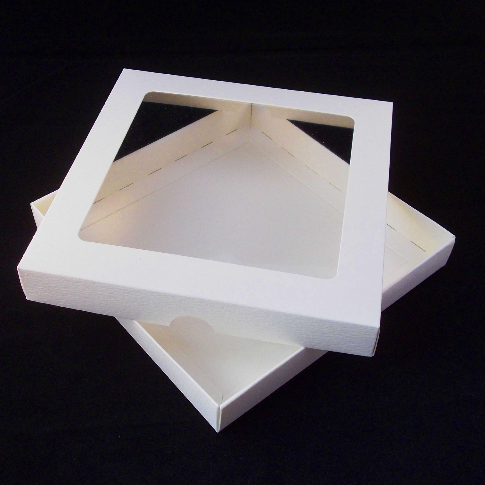 8x8 ivory greeting card boxes with aperture lid m4hsunfo