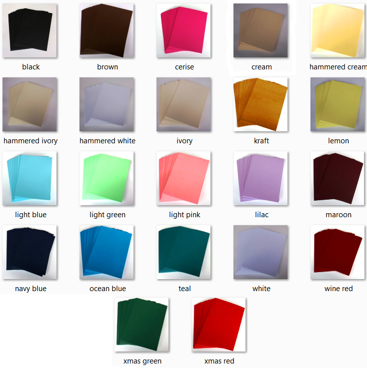 Coloured cardstock.