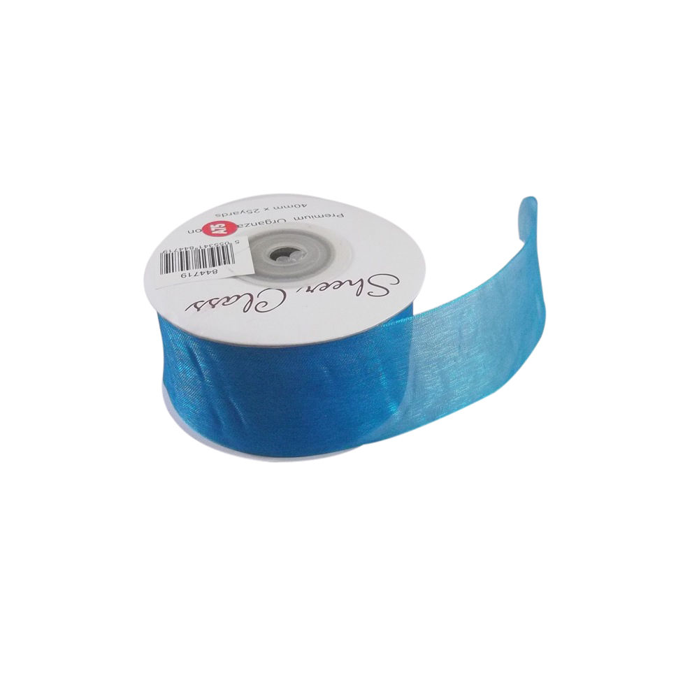 16 Colours 25mm x 22 Meters Of Top Quality Wedding Organza Ribbon Favour Box